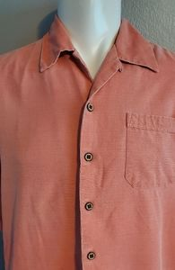 Jamaica Jaxx Salmon Camp Shirt Medium Excellent